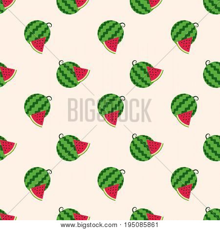 Seamless Background Image Colorful Tropical Fruit Water Melon