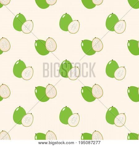 Seamless Background Image Colorful Tropical Fruit Guava