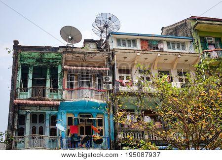 Buildings At Downtown In Yangon, Myanmar
