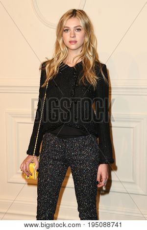 NEW YORK-MAR 31: Model Nicola Peltz attends the CHANEL Paris-Salzburg 2014/15 Metiers d'Art Show and Party at the Park Avenue Armory on March 31, 2015 in New York City.