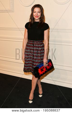 NEW YORK-MAR 31: Actress Hannah Herzsprung attends the CHANEL Paris-Salzburg 2014/15 Metiers d'Art Show and Party at the Park Avenue Armory on March 31, 2015 in New York City.