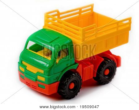 Toy Truck isolated on white