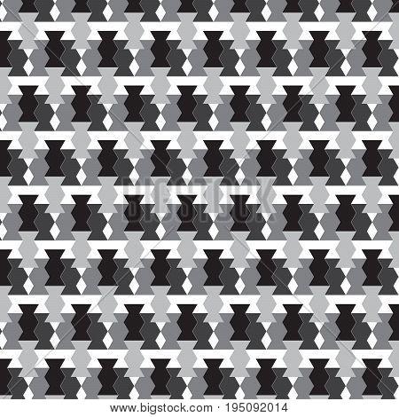 black white and silver shade vase shape with diamond shape pattern background vector illustration image