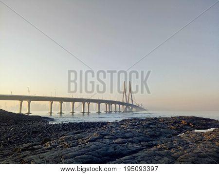 A view of Worli Sea Link in Mumbai
