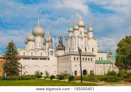 Gold ring of Russia. Rostov Veliky is one of the oldest cities in Russia. Russia, Rostov Veliky . August 26, 2015