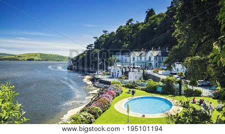 Picturesque Coastal Village of Portmeirion in North Wales UK