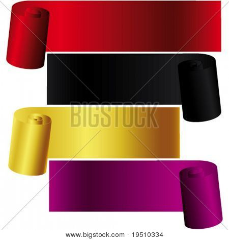 Set multicolored  roll for your texts