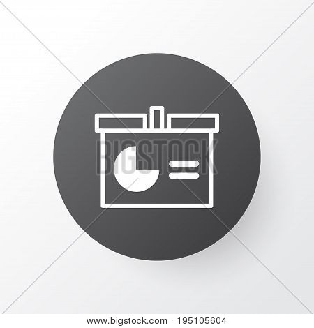 Presentation Icon Symbol. Premium Quality Isolated Publicity Element In Trendy Style.
