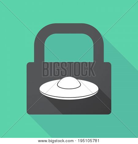 Long Shadow Lock With  A Flying Saucer Ufo