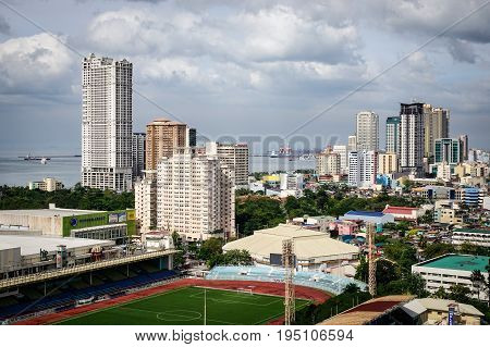 Buildings At Downtown In Manila, Philippines