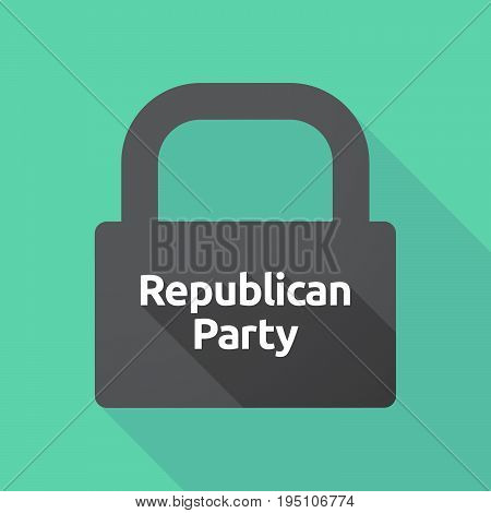 Long Shadow Lock With  The Text  Republican  Party