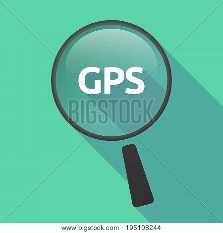 Long Shadow Loupe With  The Global Positioning System Acronym Gps