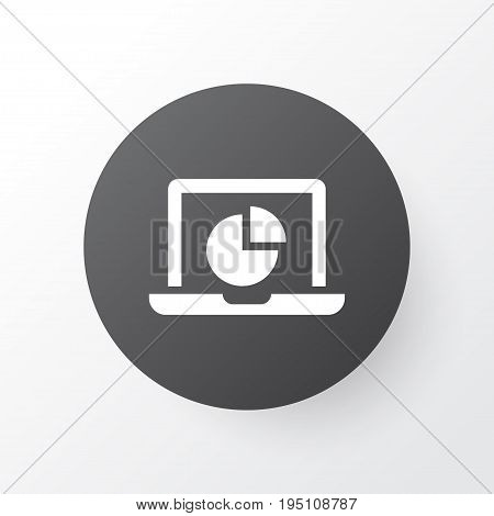 Monitor Icon Symbol. Premium Quality Isolated Infographic Element In Trendy Style.