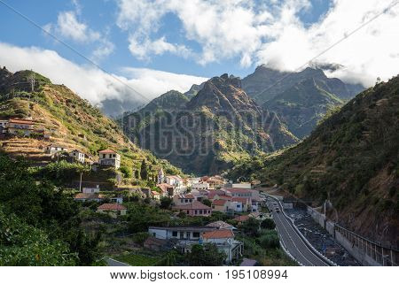 View to the south from the pass Boca da Encumeada in Madeira