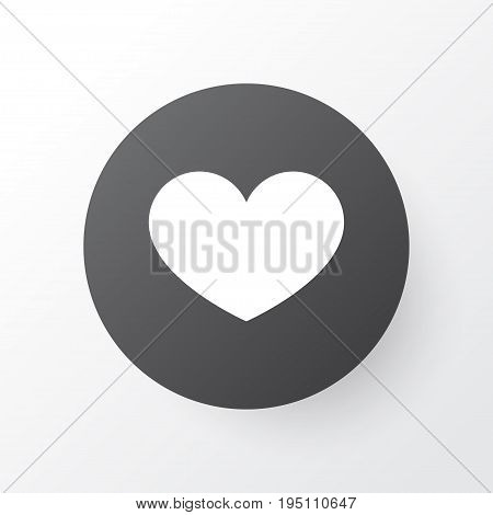 Favorite Icon Symbol. Premium Quality Isolated Heart Element In Trendy Style.