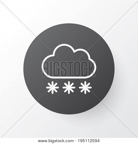 Snow Icon Symbol. Premium Quality Isolated Snowstorm Element In Trendy Style.