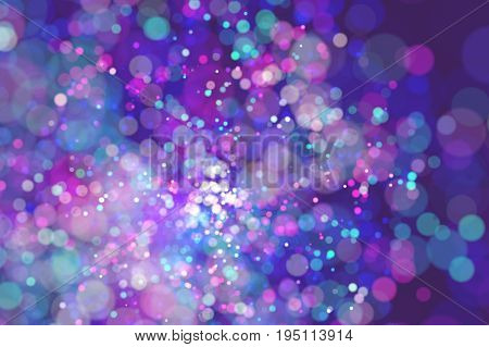 Abstract illustration of blury lights flow. Constellation of glowing particles color bokeh background. Abstract illustration of blury lights flow. 3D rendering