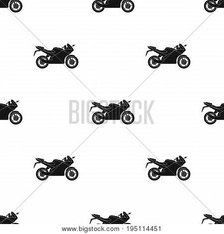 Racing motorcycle.Extreme sport single icon in black style vector symbol stock illustration .