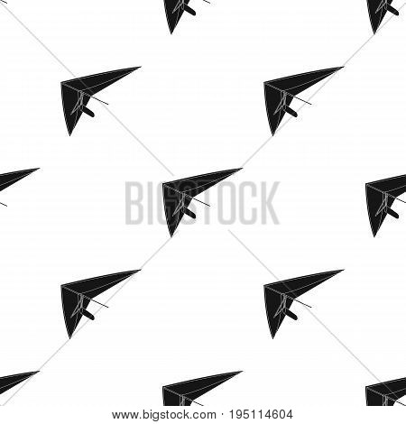 Hang gliding.Extreme sport single icon in black style vector symbol stock illustration .
