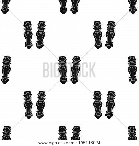 Protective knee pads. Baseball single icon in black style vector symbol stock illustration .