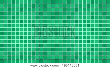 Emerald green ceramic floor and wall tiles. Abstract vector background. Geometric mosaic texture. Simple seamless pattern for backdrop advertising banner poster flyer or web