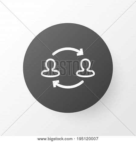 Partnership Icon Symbol. Premium Quality Isolated Team Structure Element In Trendy Style.