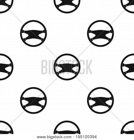 Steering wheel.Car single icon in black style vector symbol stock illustration .