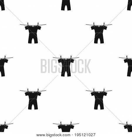 Drying of clean things. Dry cleaning single icon in black style vector symbol stock illustration .