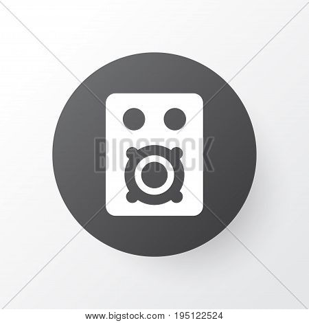 Amplifier Icon Symbol. Premium Quality Isolated Speaker Element In Trendy Style.