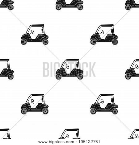 Car for golf.Golf club single icon in black style vector symbol stock illustration .