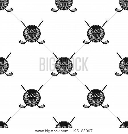 Emblem of the golf club.Golf club single icon in black style vector symbol stock illustration .