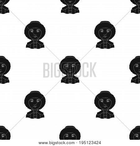 Eskimo. Human race single icon in black style vector symbol stock illustration .