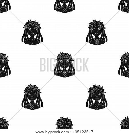 Ukrainian.Human race single icon in black style vector symbol stock illustration .