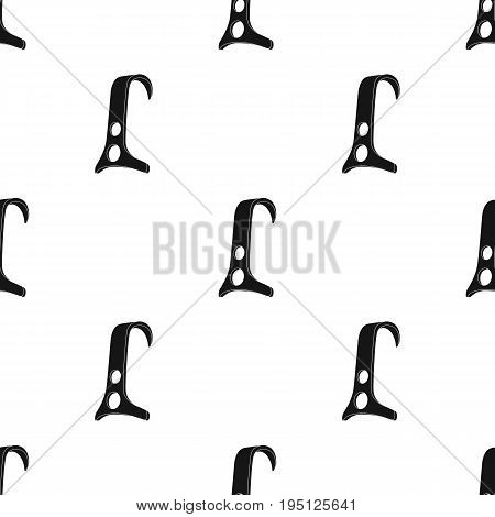 Climbing hook for the rope.Mountaineering single icon in black style vector symbol stock illustration .