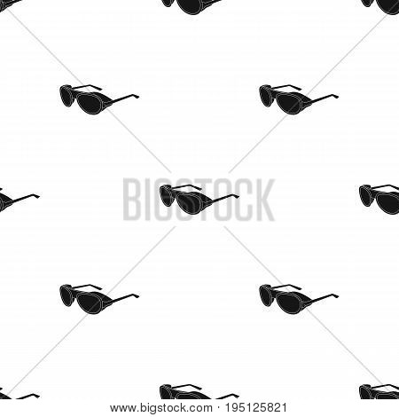 Protective glasses.Mountaineering single icon in black style vector symbol stock illustration .