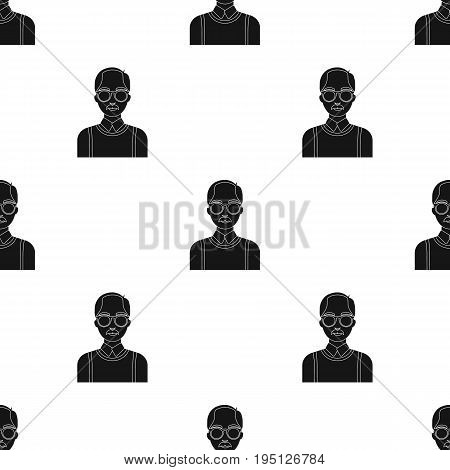 Old man.Old age single icon in black style vector symbol stock illustration .