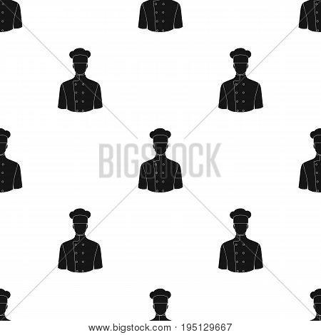 Chef.Professions single icon in black style vector symbol stock illustration .