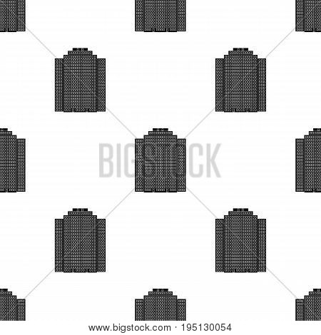 High-rise building, skyscraper, Realtor single icon in black style vector symbol stock illustration .
