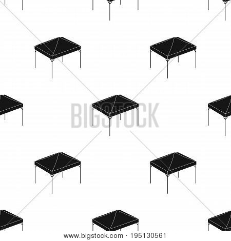 Awning for protection against sun and rain.Tent single icon in black style vector symbol stock illustration .