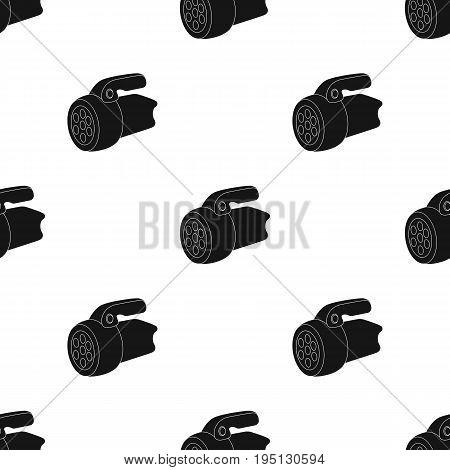 Flashlight.Tent single icon in black style vector symbol stock illustration .