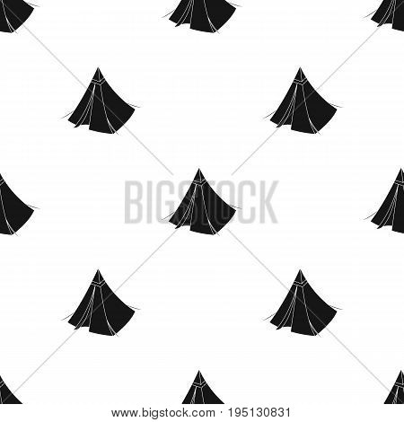 Tent cone.Tent single icon in black style vector symbol stock illustration .