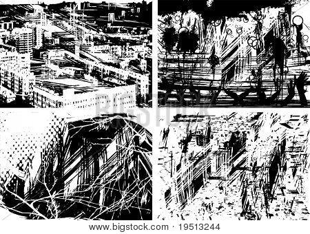 A set of grunge textures (Version vector 16723087)