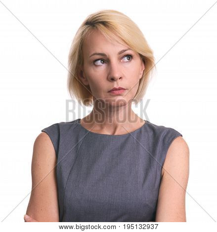 Beautiful Mid Aged Business Woman Looking Away