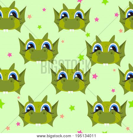Seamless monster pattern. For design on a children s theme
