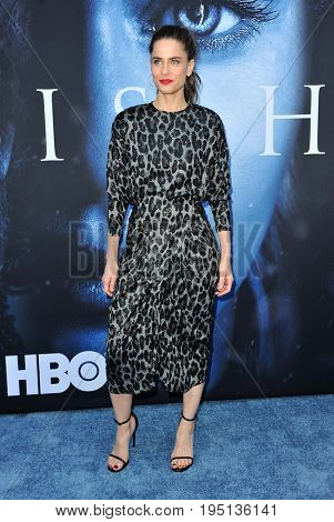 Amanda Peet at the HBO's 'Game Of Thrones' Season 7 premiere held at the Walt Disney Concert Hall in Los Angeles, USA on July 12, 2017.