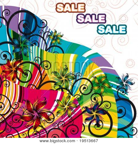 sale floral background