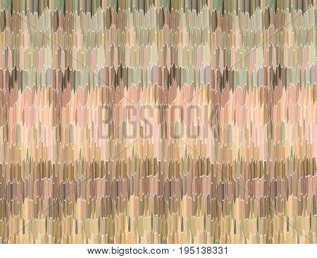Abstract multifaceted texture with different stripes of different color striped cloth mat effect
