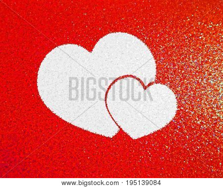 Love Heart . Red Heart . Red Shape. Heart Background . Love sign. Valentine's Day.