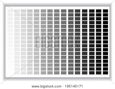 Grey colors palette. Color shade chart. Vector illustration