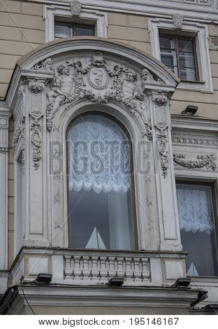 Balcony in the house on Nevsky Prospect. St. Petersburg City Centre